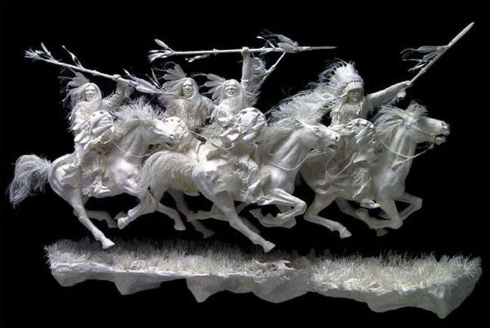 Papierowe rzeźby 9