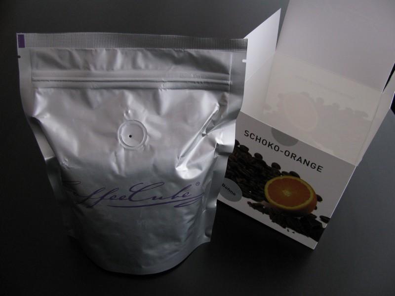 Verpackung - erster Eindruck zum Coffeecube