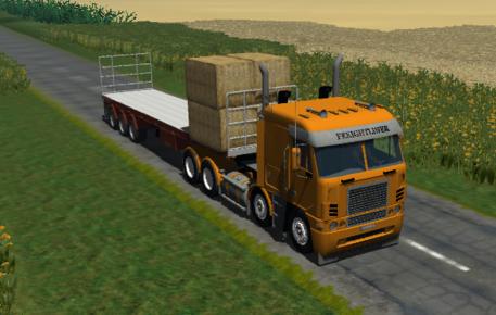 Freightliner Argosy 8x4 + 2 Trailer (beta)