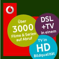 Vodafone TV Anzeige