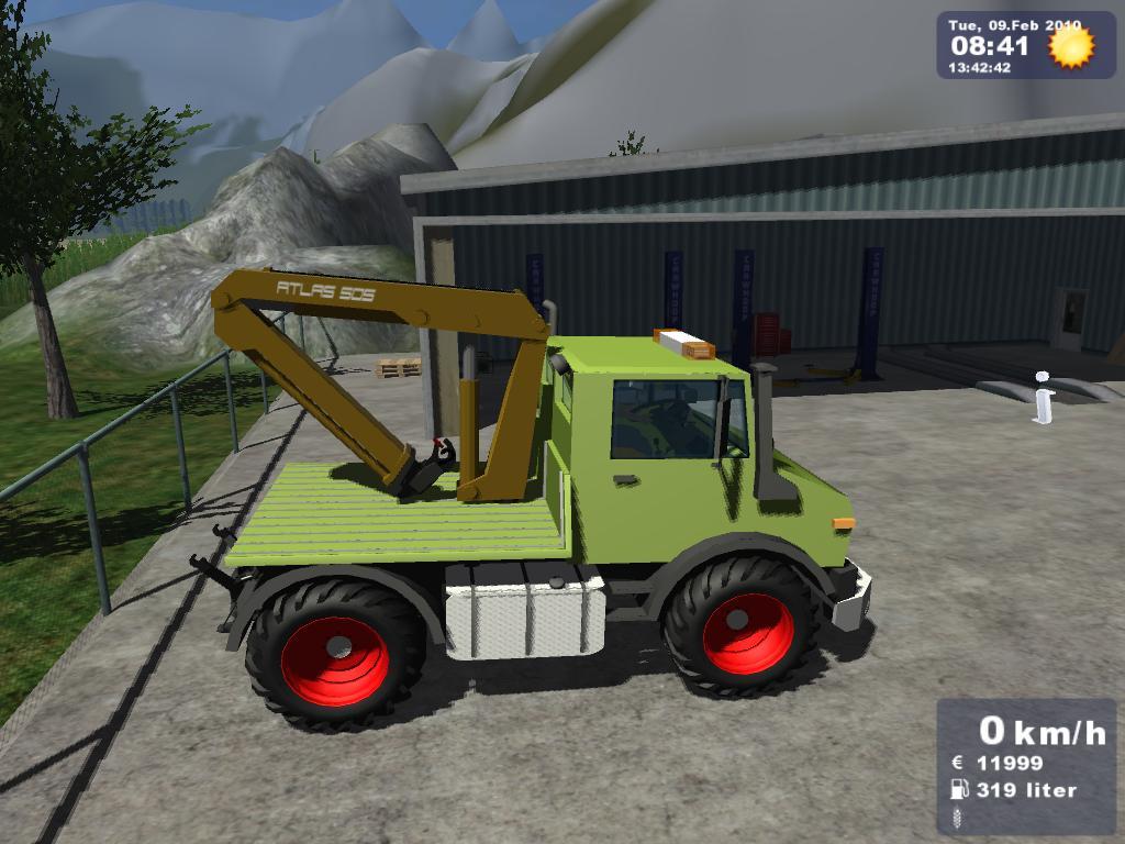 MB Unimog 1600 Crane