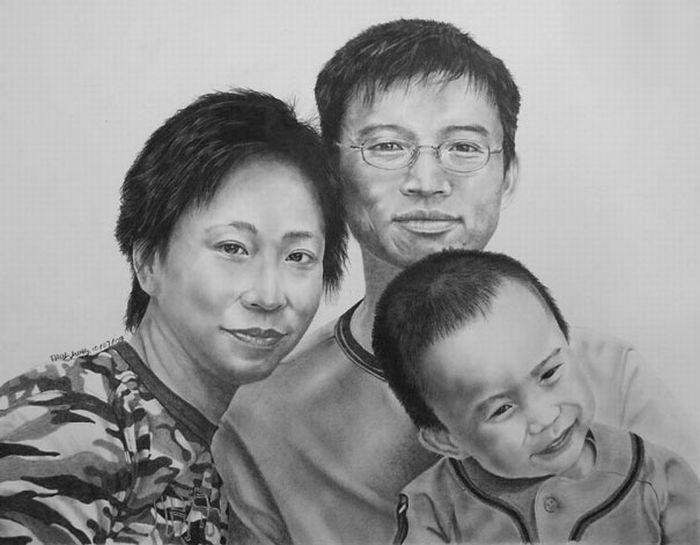 Obrazy wykonane ołówkiem 1
