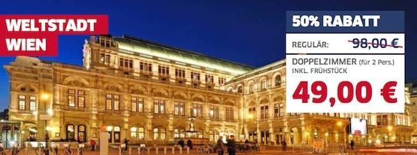 Wien Atlantis Hotel 49,00 Euro
