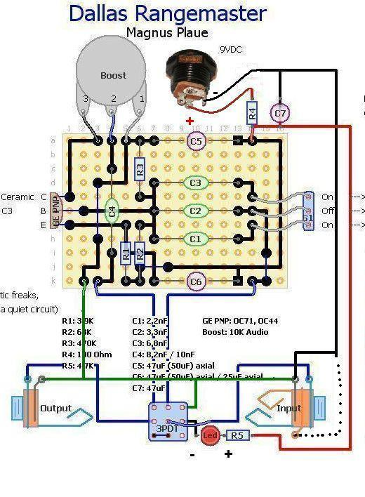 led no worky rangemaster clone please let me know what your pedal is doing ok