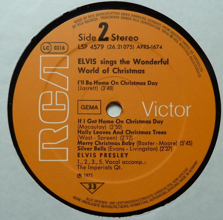 ELVIS SINGS THE WONDERFUL WORLD OF CHRISTMAS Wonderfulworldofchriss2or9