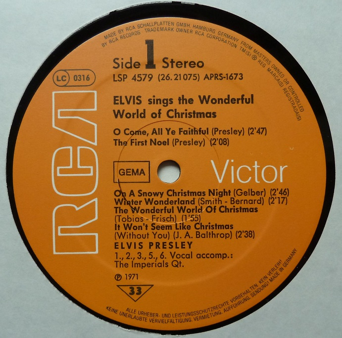 ELVIS SINGS THE WONDERFUL WORLD OF CHRISTMAS Wonderfulworldofchriswvqdr