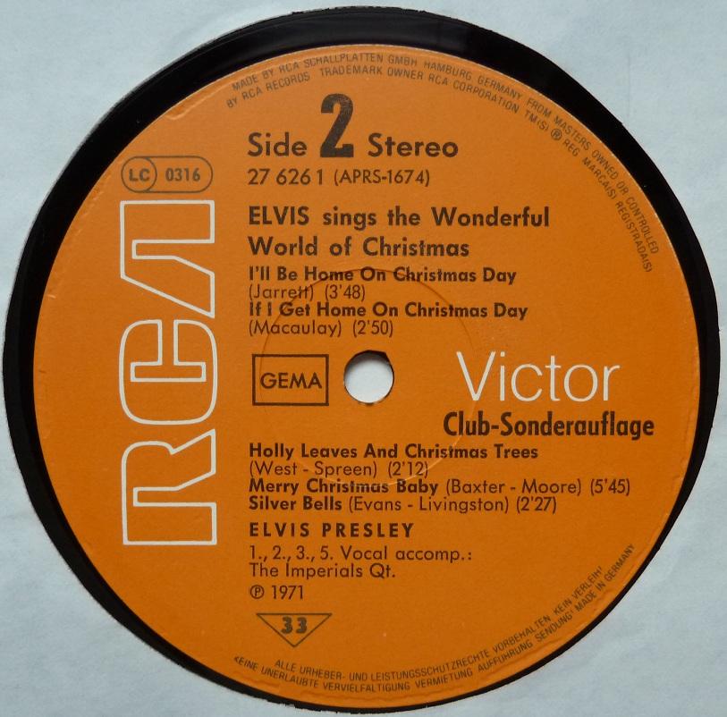 ELVIS SINGS THE WONDERFUL WORLD OF CHRISTMAS Wonderfulworldofchrisxzp69