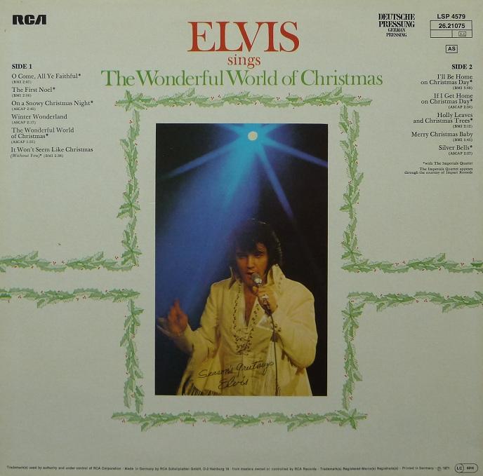 ELVIS SINGS THE WONDERFUL WORLD OF CHRISTMAS Wonderfulworldofchriszhpkb