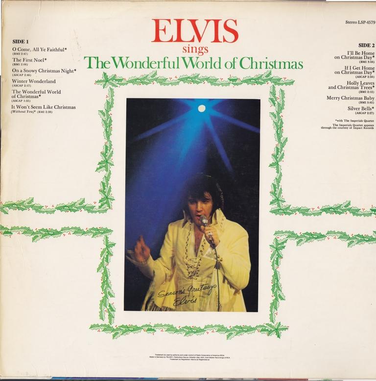 ELVIS SINGS THE WONDERFUL WORLD OF CHRISTMAS Wwocgermanybackxckso