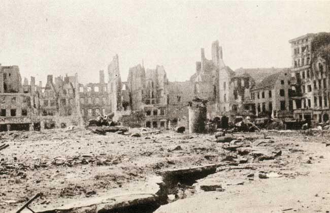 Wrocław  1945 Zniszczenia 97