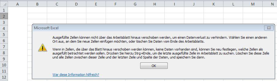 Zeile einfügen bei verbundener Spalte - - - Office-Loesung.de