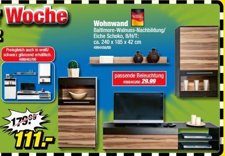 poco dom ne wohnwand f r 111 in verschiedenen farben. Black Bedroom Furniture Sets. Home Design Ideas
