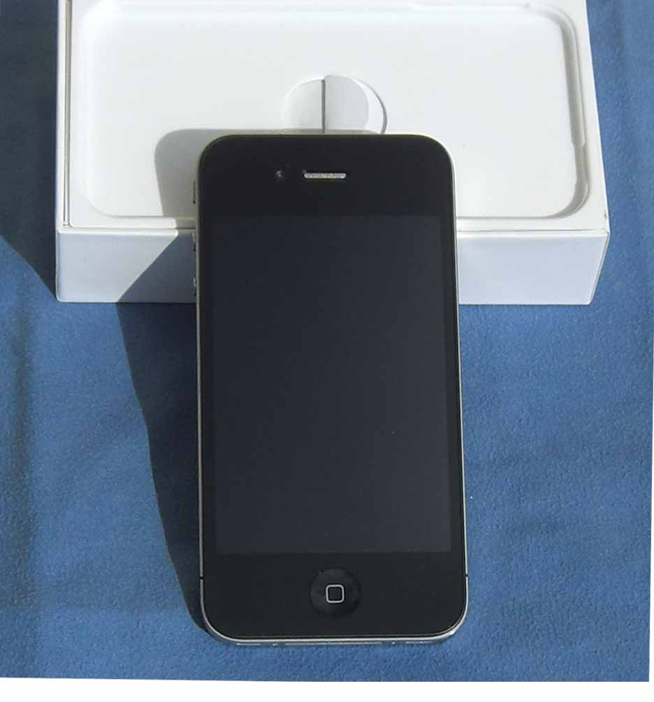 apple iphone 4 16gb t d1 gebraucht schwarz h ndler ebay. Black Bedroom Furniture Sets. Home Design Ideas