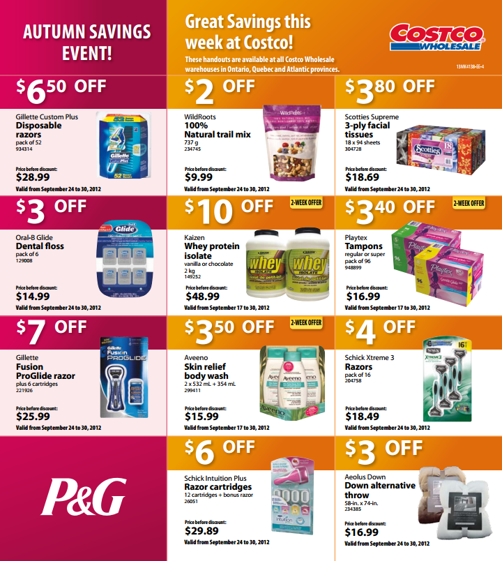 [Costco] COSTCO: East/West Flyer Deals Sept 24 - Sept 30