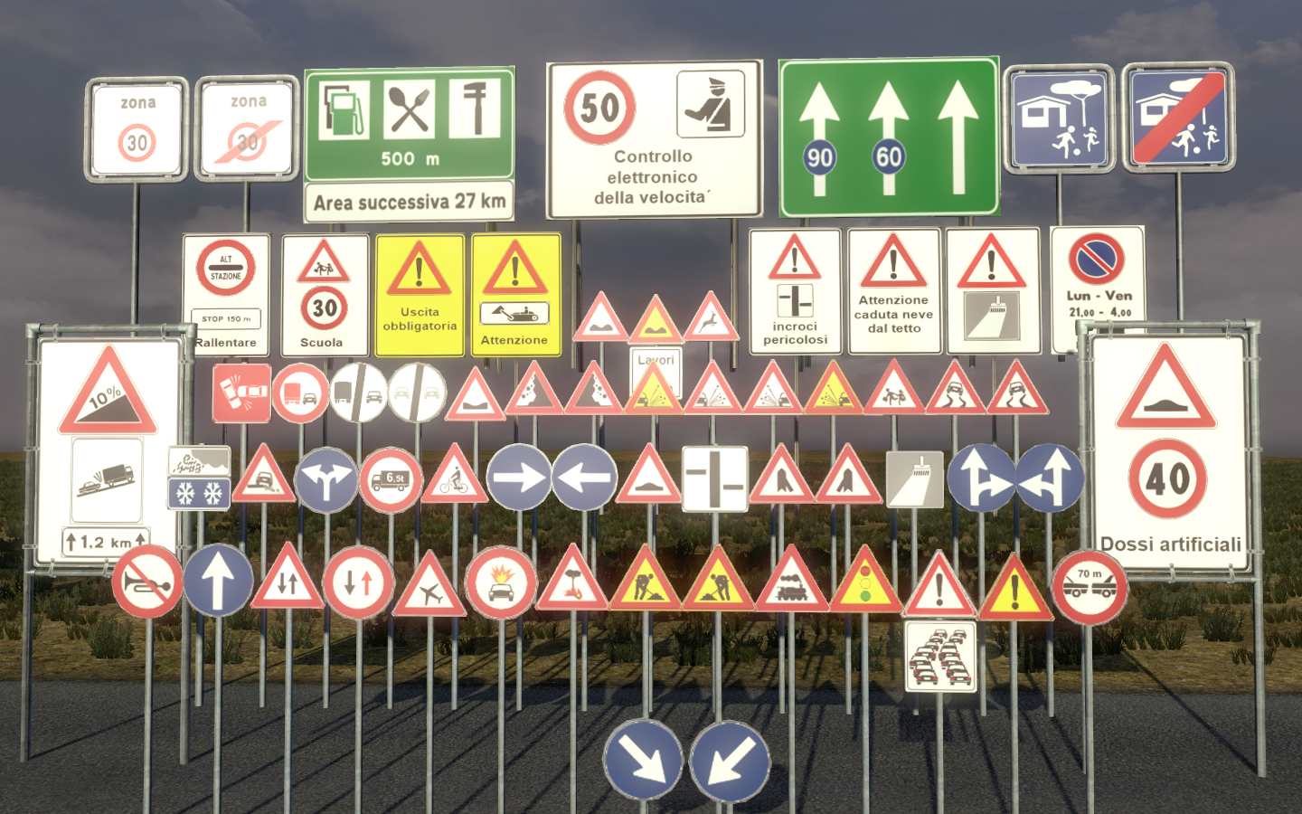 New Models (traffic-signs) for ETS 2 - SCS Software