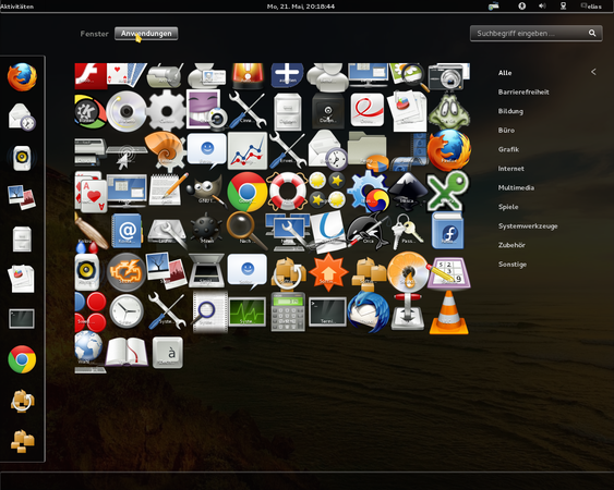 Wider icons captions in Fedora 17 Gnome 3 Activities Panel