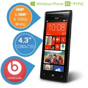 HTC Windows Phone 8X mit Beats Audio