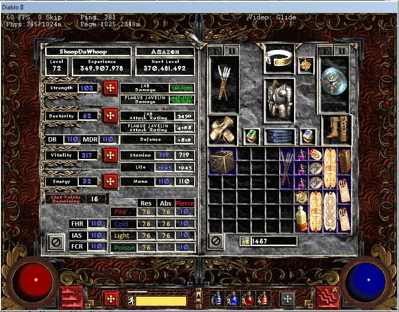 Gates of Arimyth • View topic - Extra Stats In Char Screen