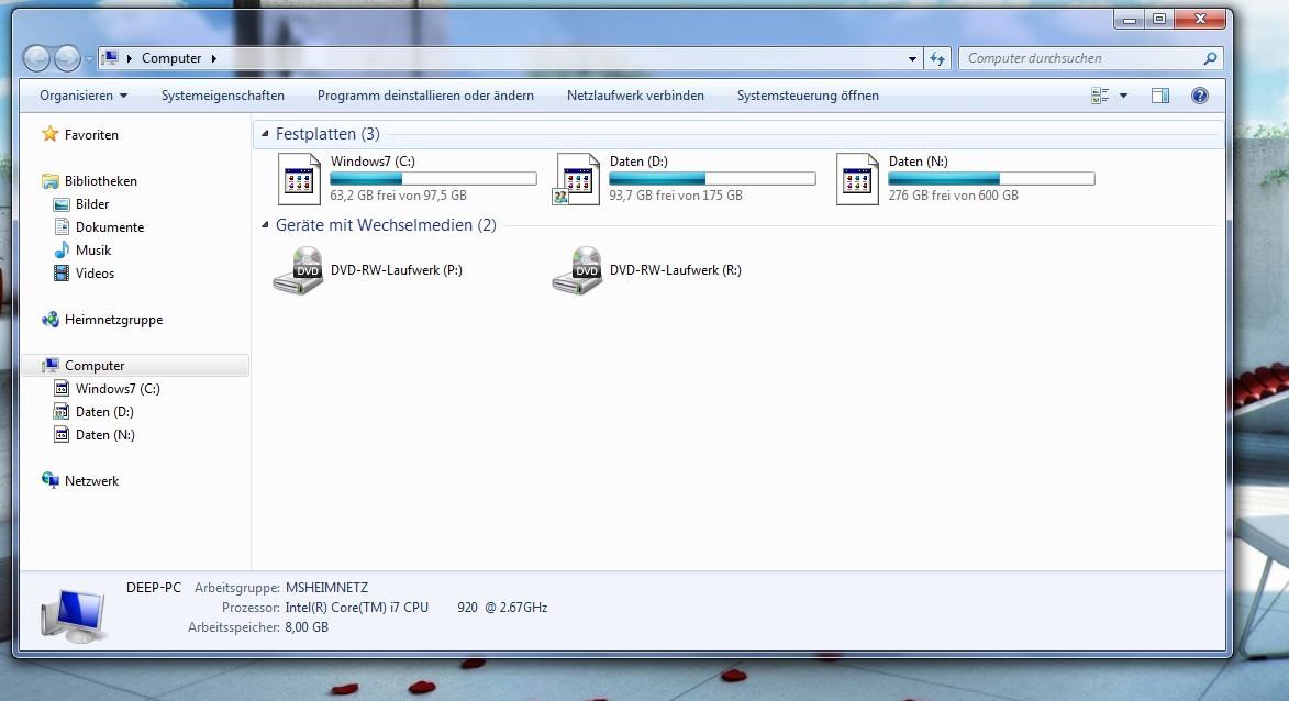 Since I installed HDSentinel my Hard Drive Icons are gone