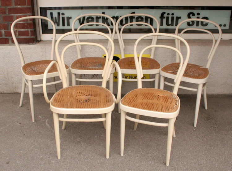 6x thonet bugholzstuhl stuhl st hle no 14 3467 1 1 ebay. Black Bedroom Furniture Sets. Home Design Ideas