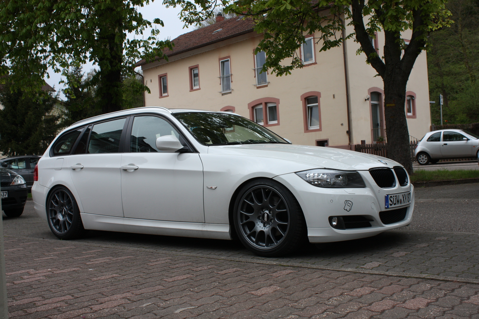 tieferlegung e91 mit federn 3er bmw e90 e91 e92. Black Bedroom Furniture Sets. Home Design Ideas