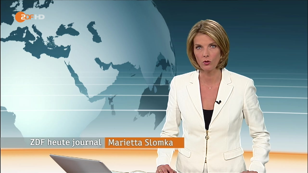Marietta Slomka Zdf Heute Journal Am 18 06 2012 Hd B Papa