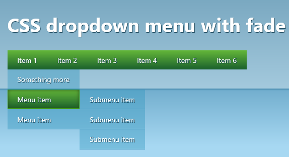 How to: Pure CSS dropdown menu with fade | guru3D Forums