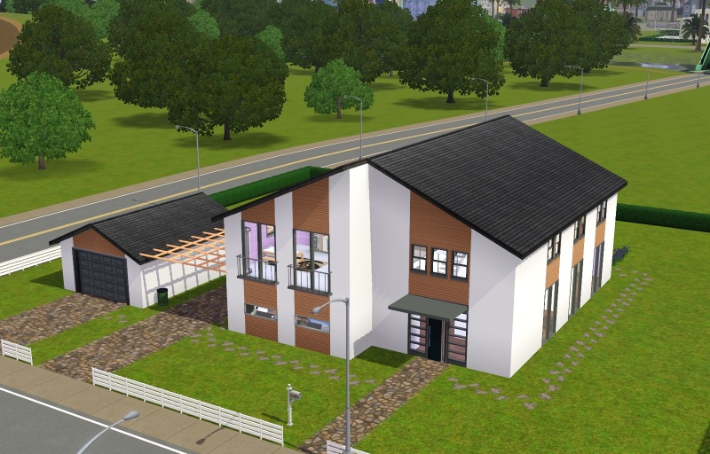 Sims 4 modernes haus grundriss for Modernes haus sims