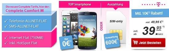 T-Mobile Complete Comfort M mit Auszahlung