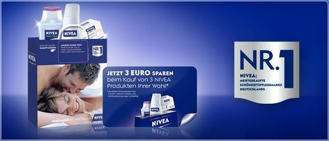 aktion 3 nivea produkte im wert von 5 kaufen und 3 sparen. Black Bedroom Furniture Sets. Home Design Ideas