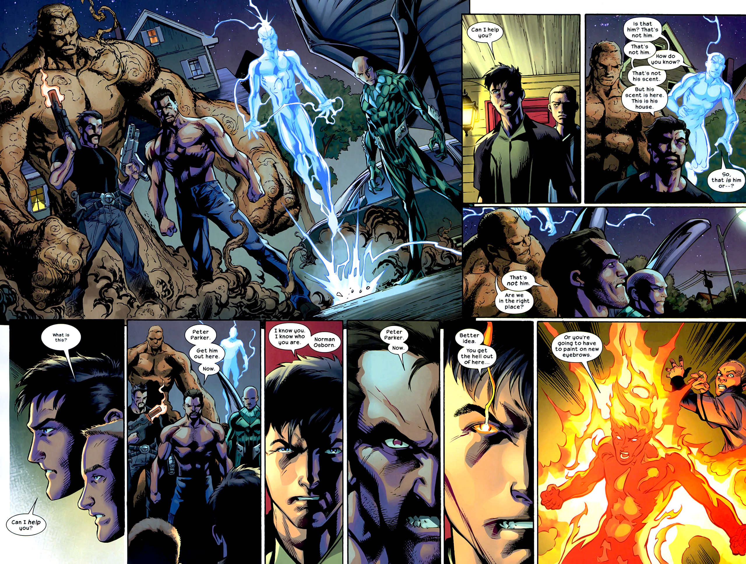 House of m green goblin - The Sinister Six Head To Peter S House Where Instead They Counter The Human Torch And Iceman