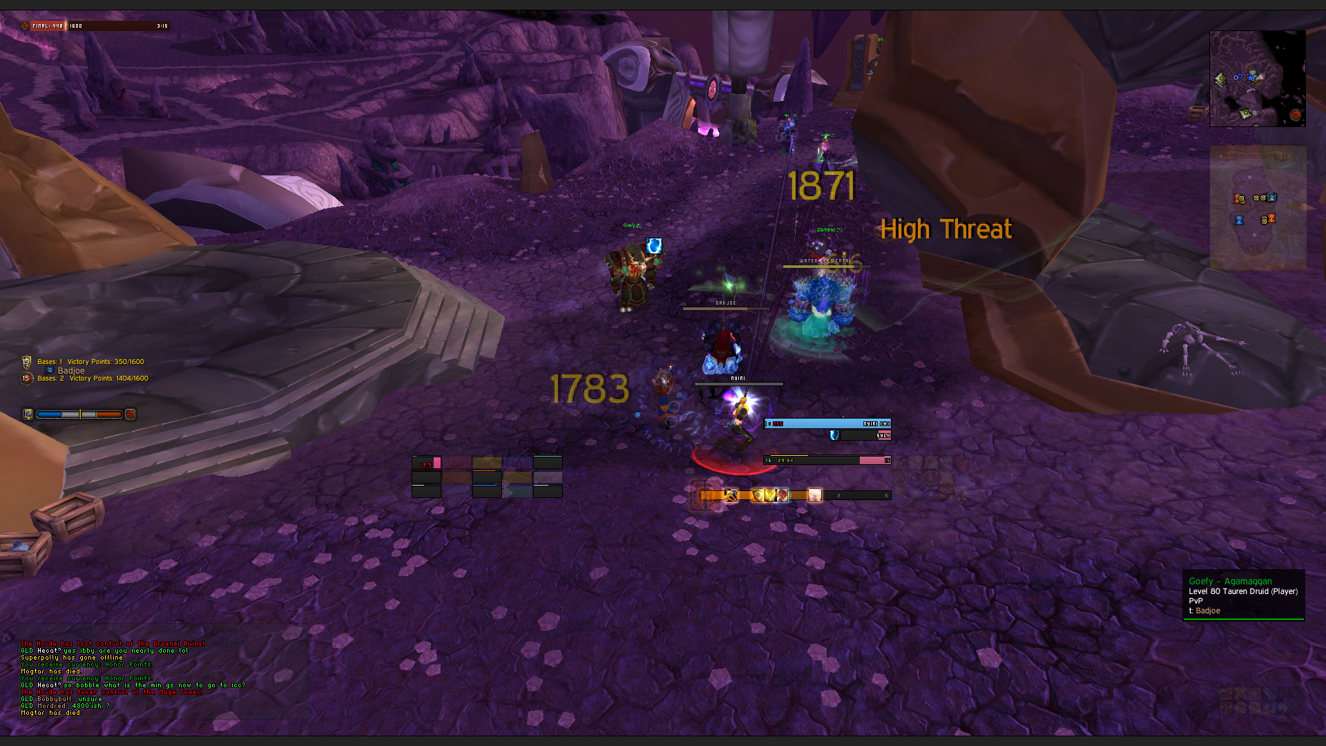 Addon to move battleground score at top of screen - World of